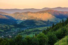 Panorama View On The Edge Royalty Free Stock Photos