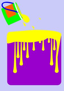 Free Buckets Of Paint. Royalty Free Stock Images - 33119649