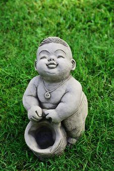 Free Boy Clay Doll Stock Image - 33119821