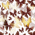 Free Seamless Pattern With Butterflies Royalty Free Stock Photos - 33120858