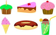 Free Cake, Donut And Ice Cream Stock Images - 33120144