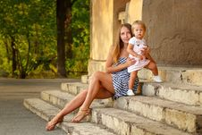 Family, Mother And Daughter, Urban Royalty Free Stock Photography