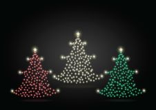 Free Christmas Tree-gold Red Green Royalty Free Stock Photos - 33122258