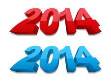 Free 2014 Year Royalty Free Stock Photo - 33133595