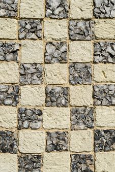 Old Stone Wall - Check Pattern Stock Photos
