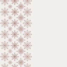 Winter Background With Seamless Snowflakes Pattern Stock Photos