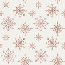 Free Decoration Snowflakes Seamless Background. Stock Image - 33134001
