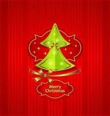 Christmas Tree Creative Post Card Stock Photography