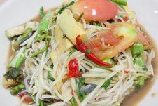 Free Papaya Salad Royalty Free Stock Photo - 33137555