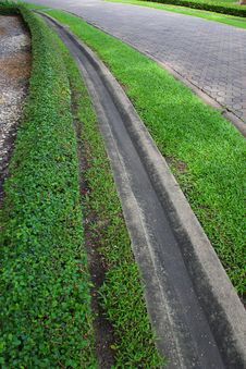 Free Drainage Ditches In The Park. Royalty Free Stock Photo - 33137635