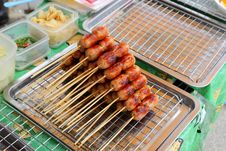 Free Thai Style Grilled Sausage` Royalty Free Stock Photos - 33137688