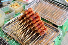 Free Thai Style Grilled Sausage` Royalty Free Stock Photos - 33137688