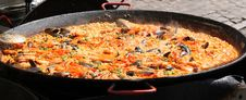 Free Street Food Paella. Royalty Free Stock Photo - 33140905