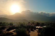 Sunset Over The Mountain Tahtalı Royalty Free Stock Images
