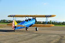 Free Biplane Stearman On Takeoff Stock Image - 33144611