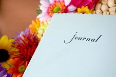 Free Journal With Colorful Flowers Royalty Free Stock Photos - 33148858