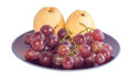 Free Chinese Pear And Grape Royalty Free Stock Images - 33157189