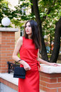 Free The Girl In A Red Dress Royalty Free Stock Photos - 33157918