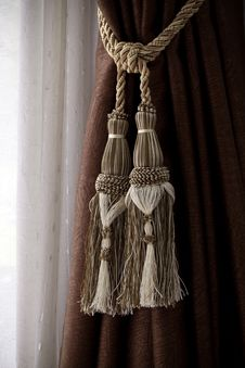 Free Curtain And Rope Stock Photos - 33150123