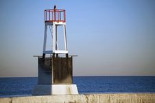 Small Frozen Lighthouse Royalty Free Stock Photo
