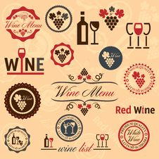 Free Wine Labels Set Stock Photos - 33154673