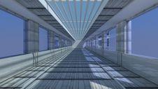 3d Futuristic Architecture Stock Images