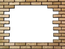 Brick Wall In The Frame Stock Photos