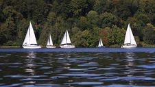 Free Sailing Boats On A Lake Stock Photography - 33159532