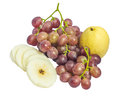 Free Chinese Pear And Grape Stock Photography - 33160342