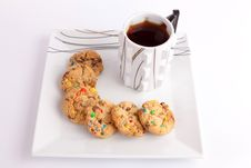 Free Cup Of Tea With Cookies Royalty Free Stock Photo - 33160515