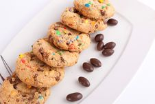 Coolerd Cookies With Chocolate Royalty Free Stock Image