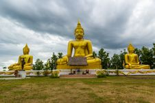 Free Golden Buddha Statue Royalty Free Stock Image - 33162516