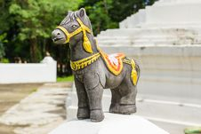 Free Black Sacred Horse With Decorated Royalty Free Stock Photo - 33162775