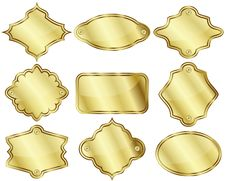 Free Golden Labels Or Plates Royalty Free Stock Photo - 33164655