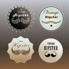 Free Set Of Emblems Hipster Stock Image - 33165471