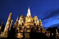 Free Wat Mahathai, Sukhothai Province Royalty Free Stock Image - 33166266