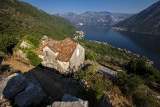 Free Panorama Kotor Bay Royalty Free Stock Photography - 33166987