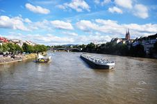 Free Water Transport On Rhine, Basel Royalty Free Stock Image - 33168926