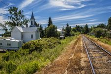 Free Railway & Church Royalty Free Stock Images - 33169229