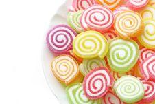Free Marshmallow With Gelatin Dessert Stock Photo - 33175160