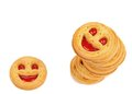 Free Stack Of Smile Biscuits. Royalty Free Stock Photos - 33183778