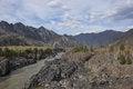 Free Mountain Landscape River Dark Cliffs Stock Photography - 33186092