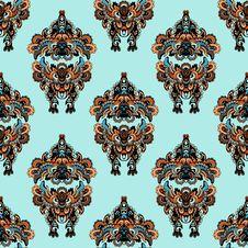 Free Seamless Pattern In Folk Style Stock Photo - 33181940