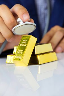 Free Gold Bars Concept Stock Image - 33182121