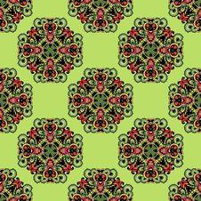 Free Fresh Green Seamless Pattern Royalty Free Stock Images - 33182219