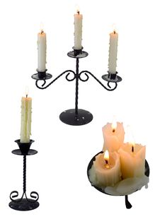 Set Of Isolated Candles 2 Royalty Free Stock Photo