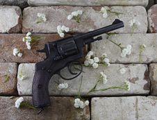 Free Gun With Flowers 2 Stock Photos - 33184233