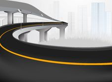 Elevated Road Royalty Free Stock Photos