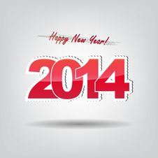 Free Happy New Year 2014! Stock Image - 33186731