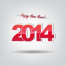 Happy New Year 2014! Stock Image